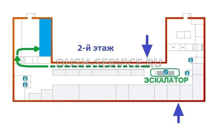 Схема движения по ТЦ Фабрика